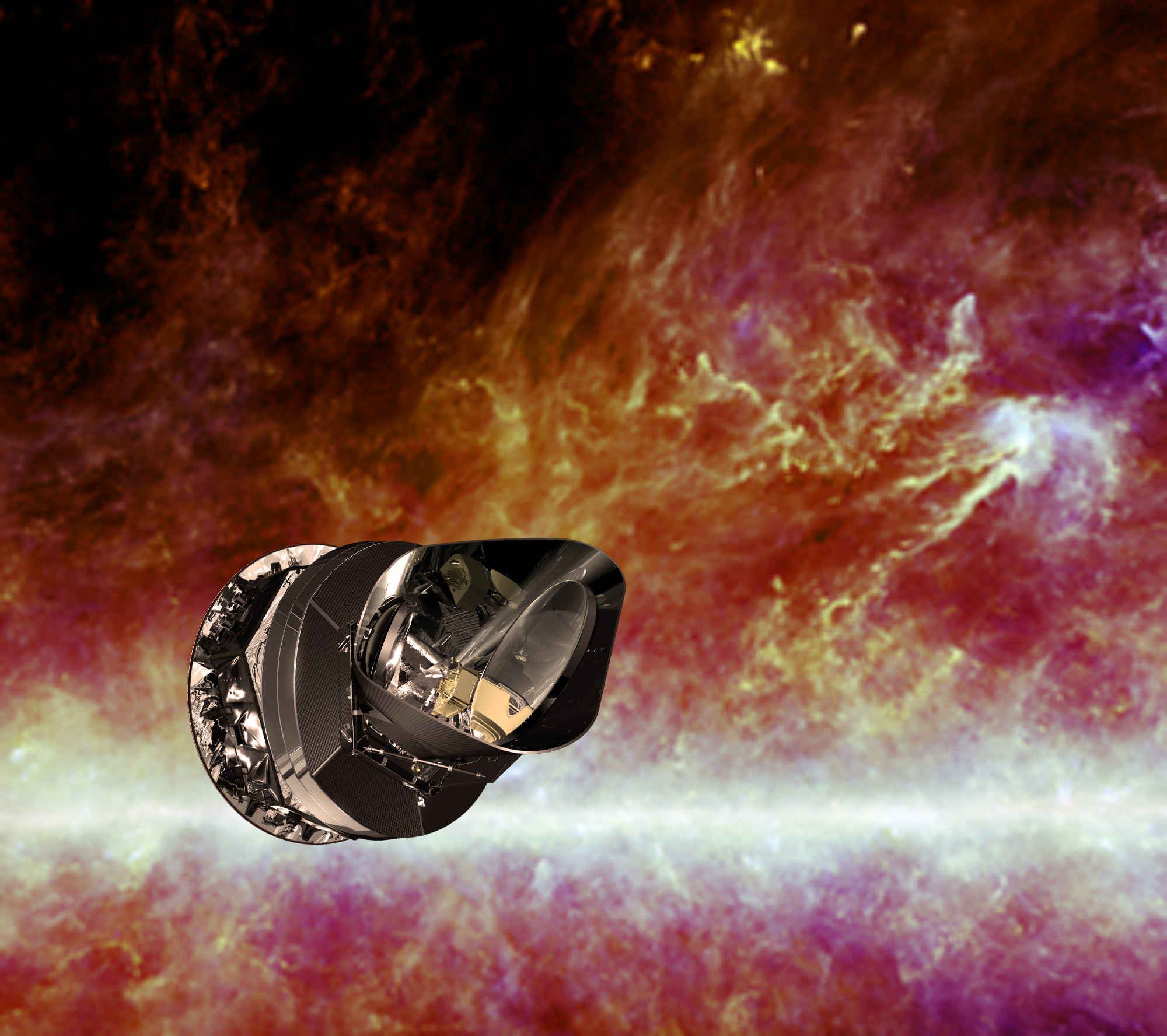 Aeroplans - Artist impression of the Planck spacecraft © ESA