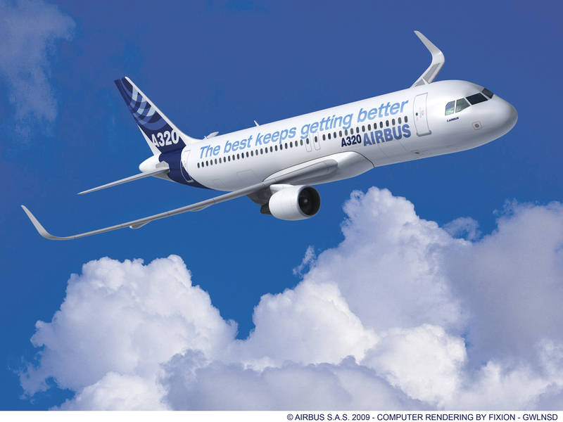 Aeroplans - A320 avec larges winglets © Airbus SA.S. 2009
