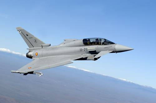 Aeroplans - Spanish Air Force twin seater Eurofighter Typhoon from ALA-11 based