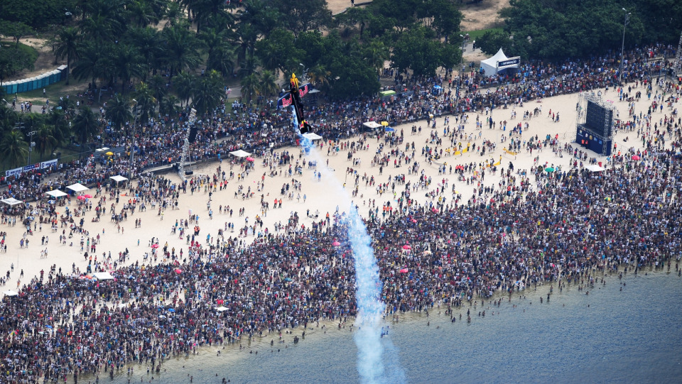 Aeroplans - Flamengo Beach lors des qualifications © Red Bull Air Race
