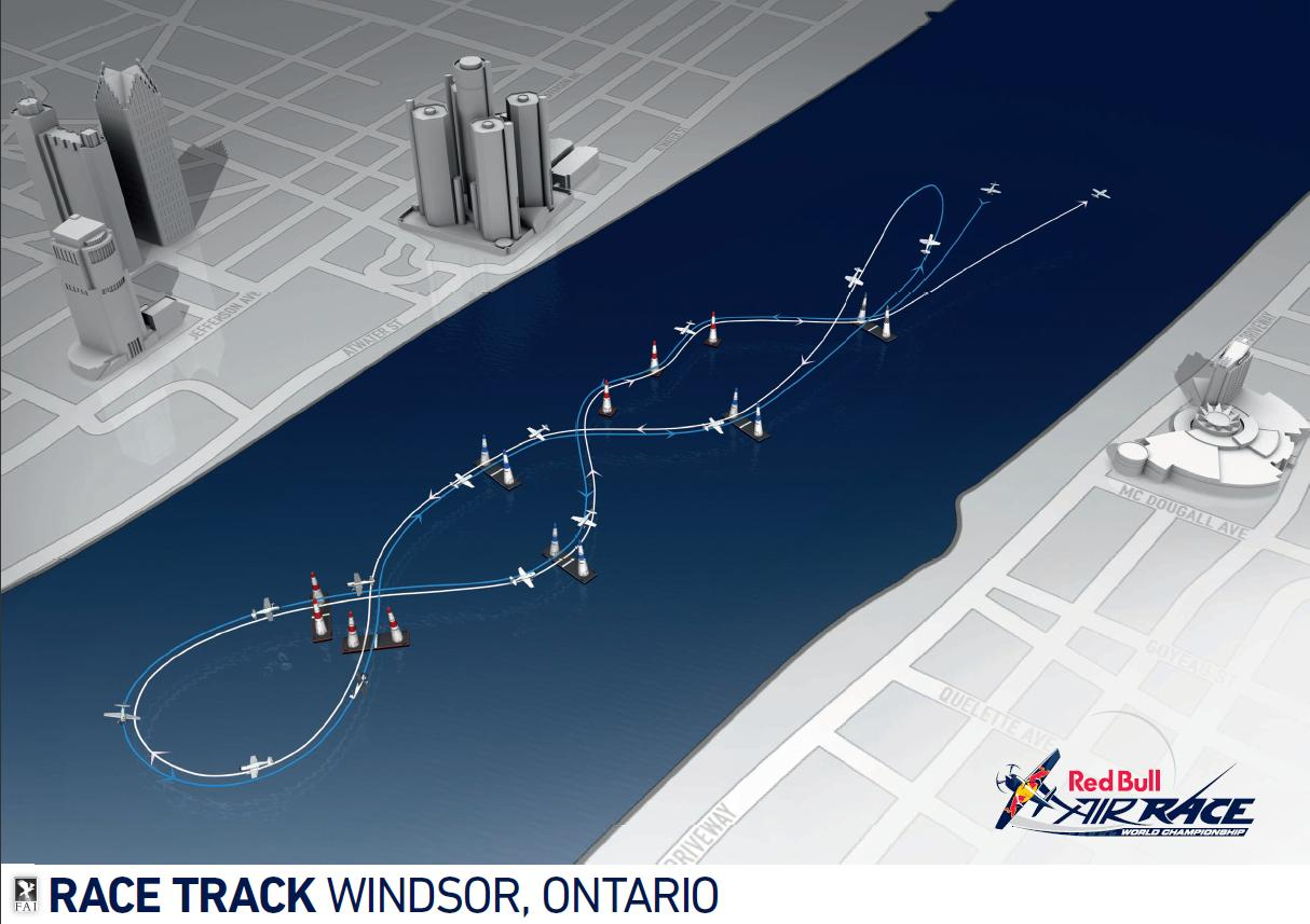 Aeroplans - Graphique pour la course de Windsor © Red Bull Air Race