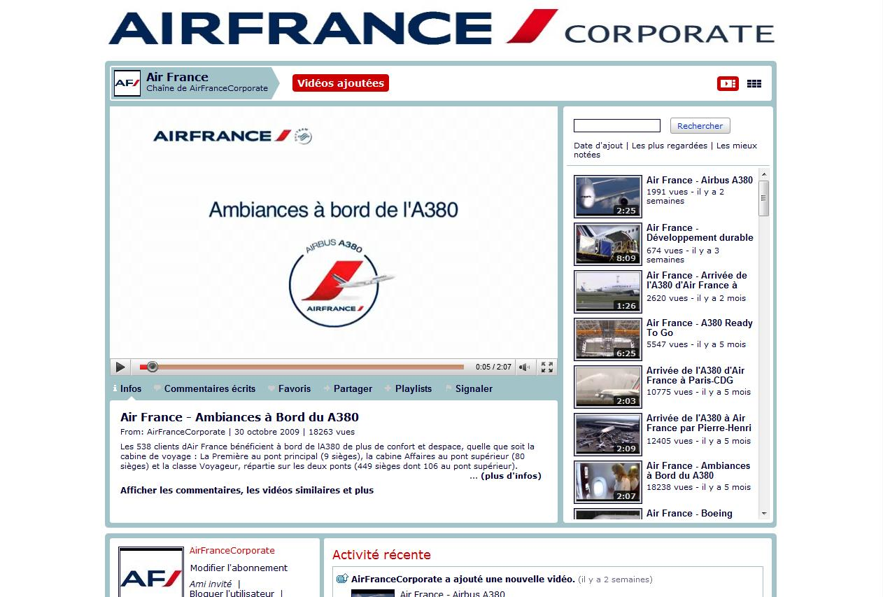 Aeroplans -  Chaine You Tube Air France